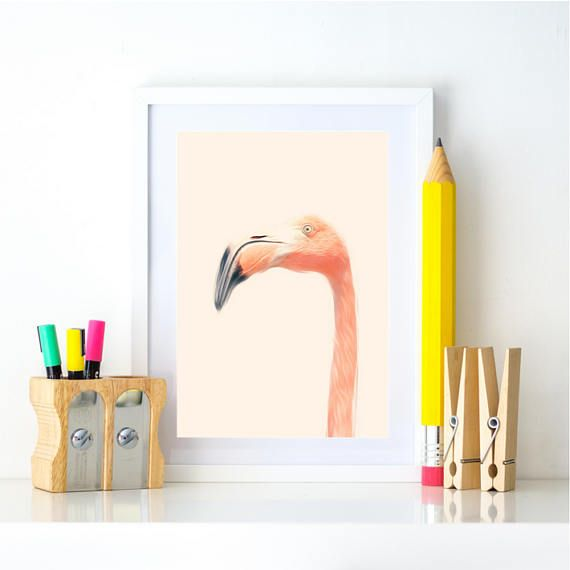 Flamingo Print, Flamingo Wall Art, Flamingo Poster Flamingo