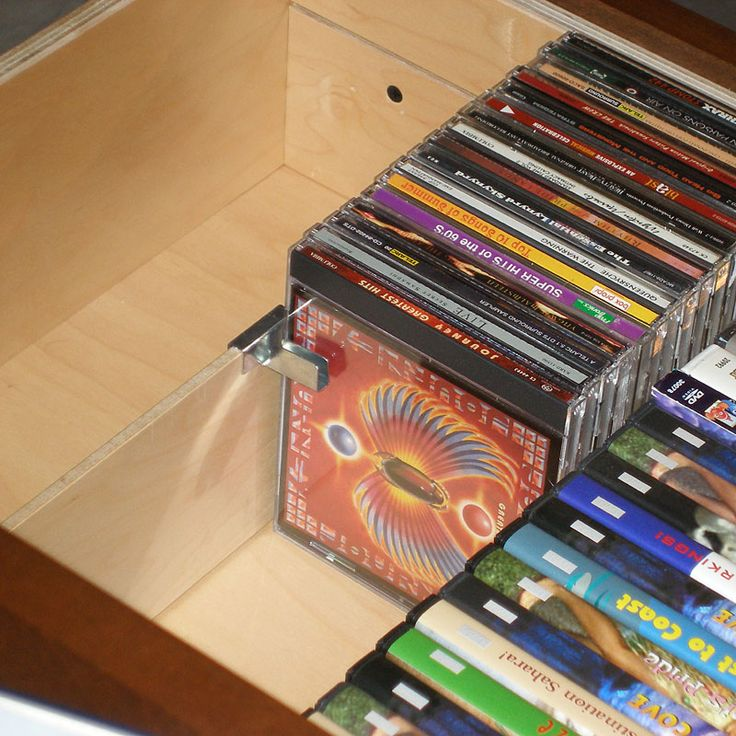 Sculpture of CD Storage Drawers: A lovely Storage to Store Your CD Collections