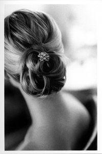 Wedding, Hair, Updo, Chignon - Gorgeous simple updo