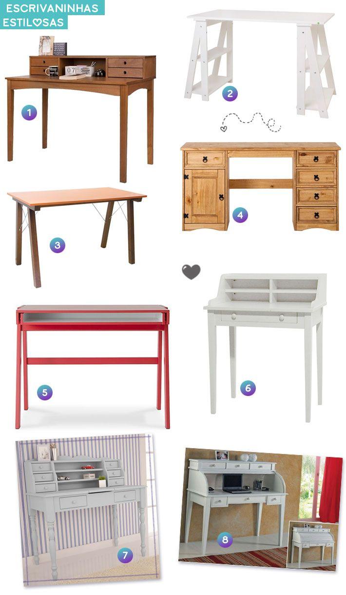 Onde encontrar escrivaninhas com estilo