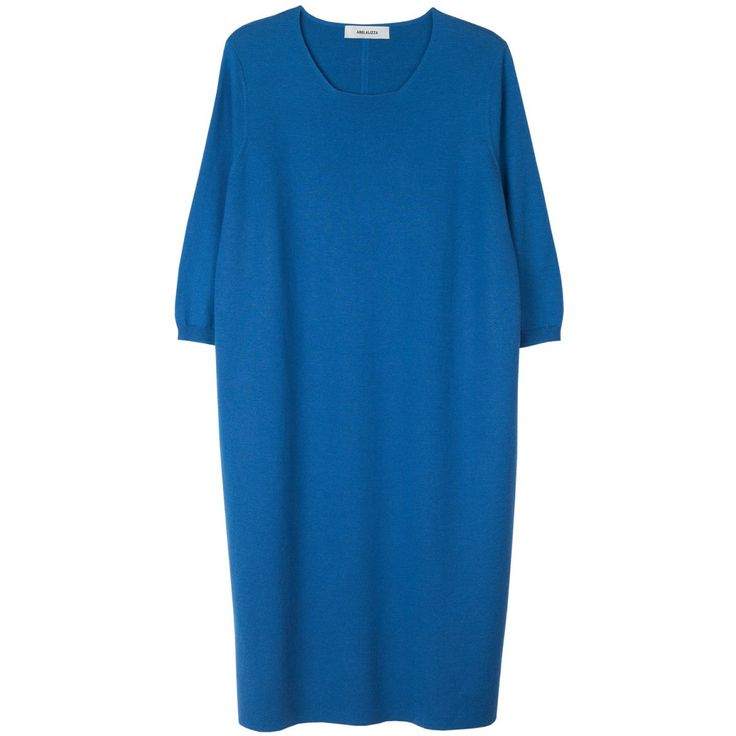 Philanthropist cashmere & wool milano dress in blue | Arela