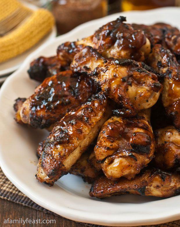 Bourbon Spice Barbecue Chicken Wings Recipe - RecipeChart.com