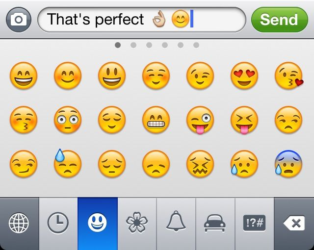 """Getting Emoticons on your iPhone without installing the """"Emoji"""" app"""