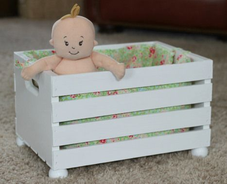 DIY Doll Bed--please visithttp://www.bluebaycottagecrafting.com/2013/11/diy-doll-bed.html for the original post, as the site was moved since this was initially posted!!