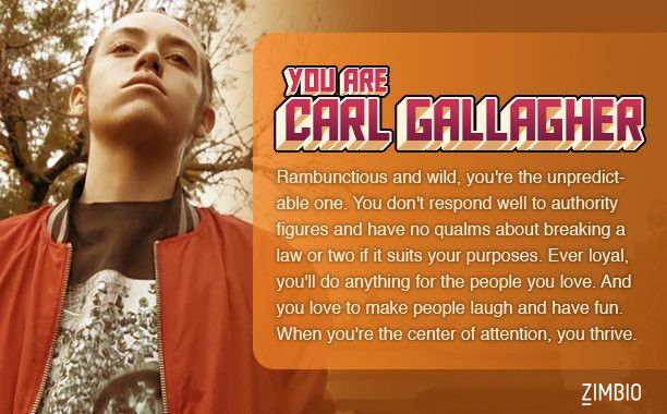 I took Zimbio's Which 'Shameless' character are you quiz and I got Carl. Who are you? - Quiz