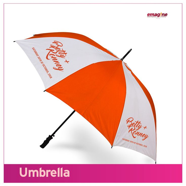 UMBRELLA- Come rain or sunshine, you are always there with family and friends. They hold you literally in HIGH regards. All because you honoured them with a classy umbrella souvenir and #aWeddingtoremember. Emagine that!