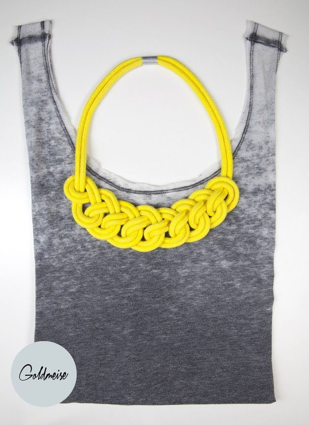 Statement-Kette 'Ronda', handgefärbtes Seil // statement necklace, dyed rope by Goldmeise via DaWanda.com