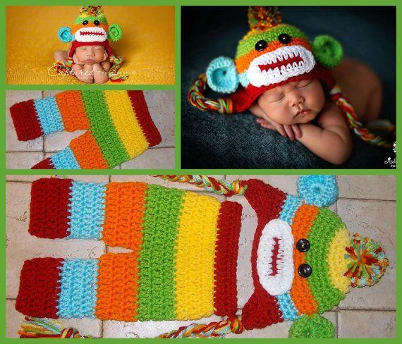 Sombrero del muchacho del bebé / Pant Set por JerribeccaHats2