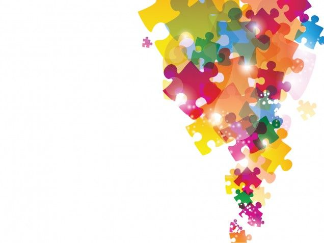 Colorful Puzzles Powerpoint background is a good choice ...