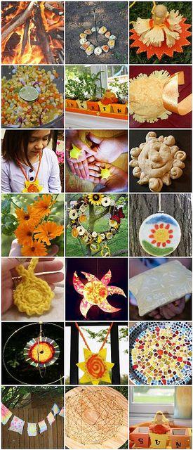 June ~ Summer Solstice ~ Midsummer Festival E-Book ~ Stories, Songs, Verses, Fingerplays, Crafts, & Activities