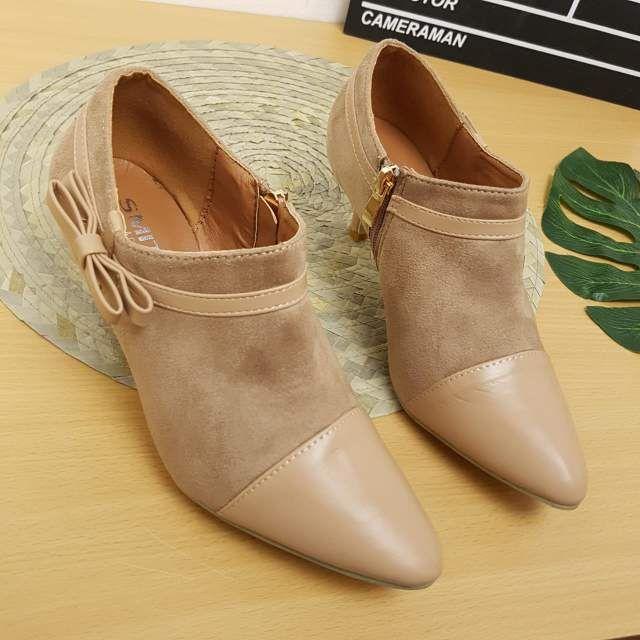 Sepatu Smith 158 High Heels Warna Apricot Sepatu Tumit Tinggi