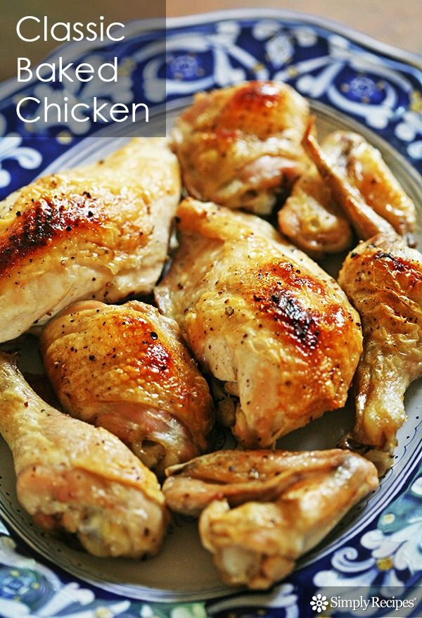 Our go-to oven-baked chicken recipe on SimplyRecipes.com Couldn't be easier! It's also paleo, low carb, and gluten-free.
