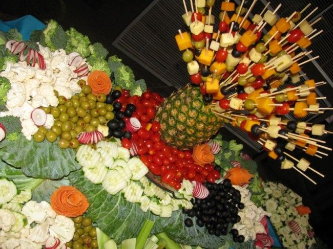 Waterfall Fruit And Veggie Displays: Beautiful Fruit And Vegetable Displays For A Wedding