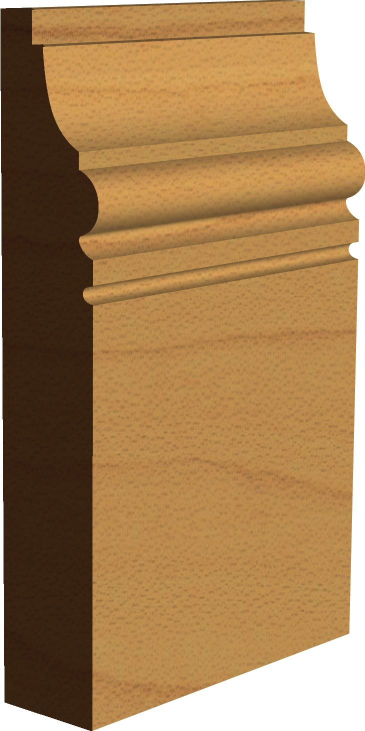 Edwardian 'Benham' Skirting Board Profile  Made by Period Mouldings  www.periodmoudlings.co.uk