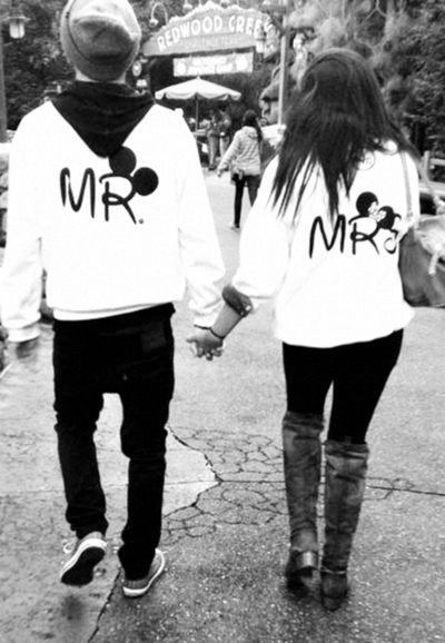 Disney couples <3 : Not Mr. And Mrs....but our outfits tomorrow are going to be way cooler! Haha
