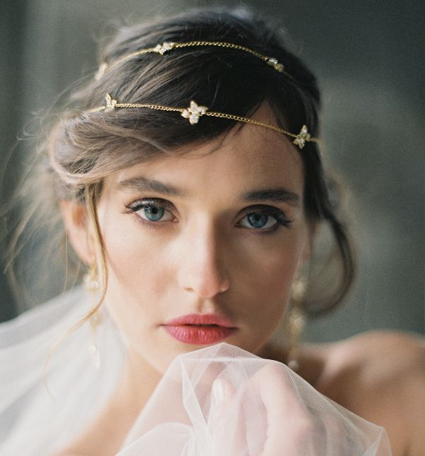 Shop Poeme Circlet l  Photo by: Laura Gordon | Accessories & headpieces ENCHANTED ATELIER BY LIV HART / Gown SAMUELLE COUTURE / Rings TRUMPET & HORN / Make-up ASHLEE GLAZER / Hair stylist NIKKI AVANZINO / Model NATALIA WOWCZYKO / Location LYNDHURST CASTLE / Film scans PHOTOVISION