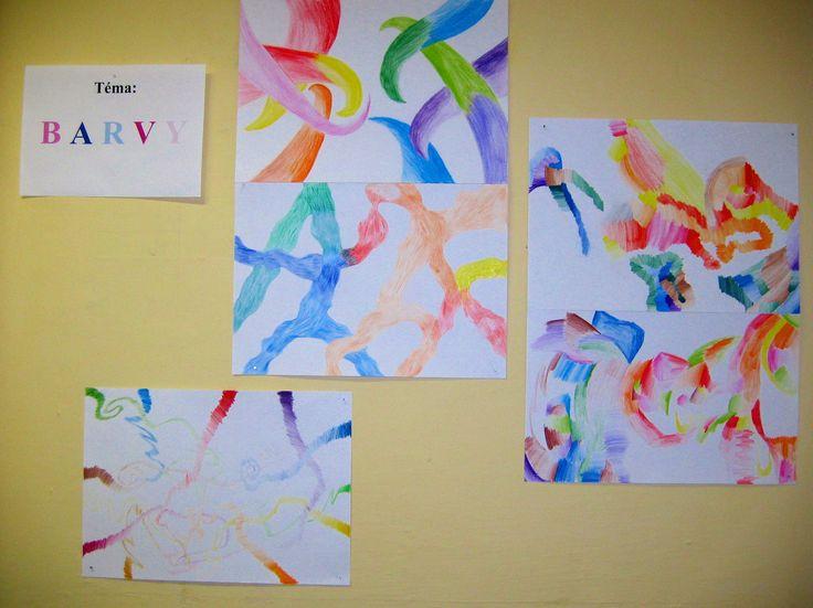 Setkání teplých a studených barev, color
