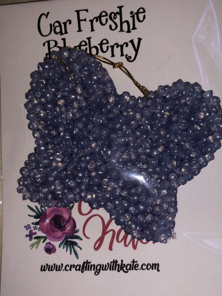 Car Air Freshies Blueberry aroma beads air freshener