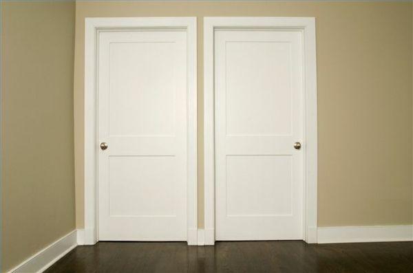 schlichte innentüren weiß stilvoll schön