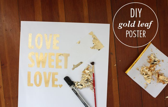 DIY gold leaf