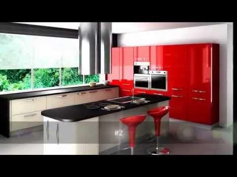 Top 10 Red Kitchen Design