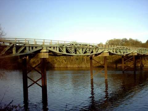 Parts which were to be used for Mulberry Harbour were used near Carentan for another Bridge. 70 years later, the Bridge is still Standing!