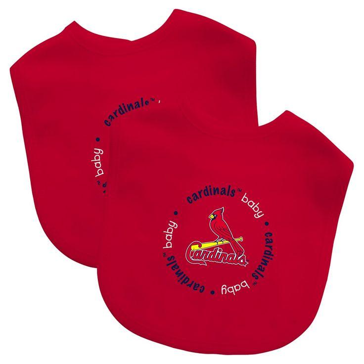MLB St. Louis Cardinals Baby Fanatic Bib - 2pk