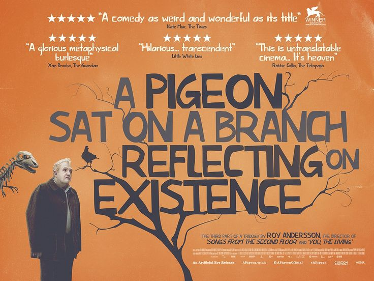 A Pigeon Sat on a Branch Reflecting on Existence by Roy Andersson Poster