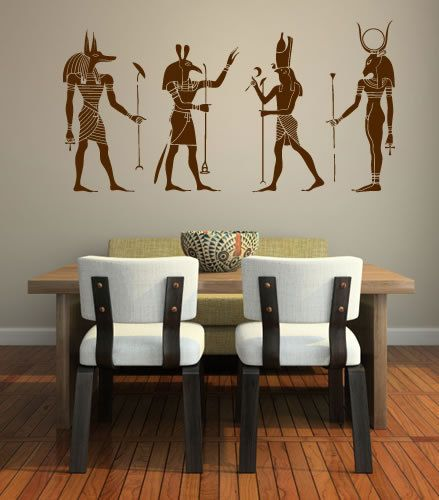 Egyptian Gods Wall Decal by easydecals on Etsy, $114.99