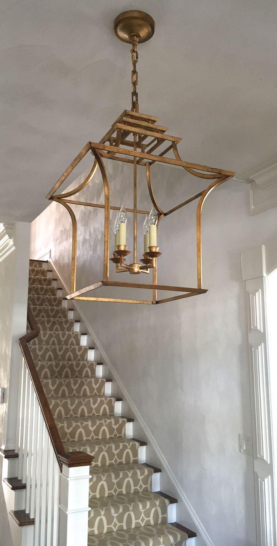 Visual Comforts lantern and Stark Carpet runner. Design by Wizzie Broach…