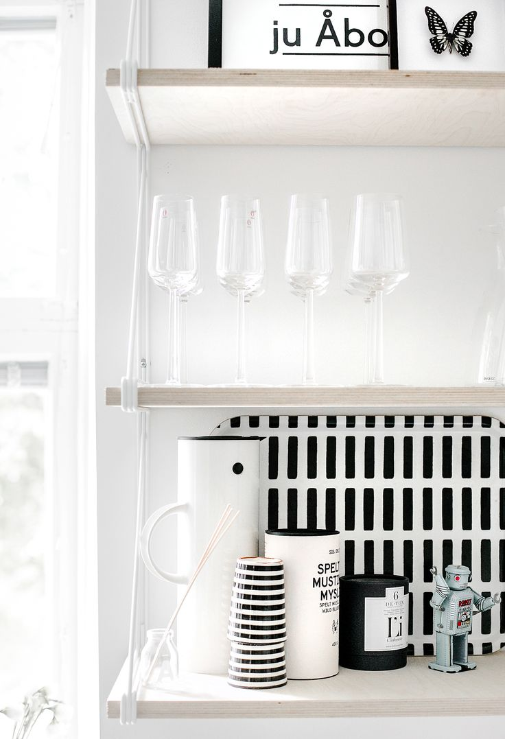 Monochrome kitchen...I think I will! Love the simplicity, serene cooking space! x