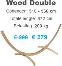 Hangmatstandaard 'Wood' Double tot 360 cm
