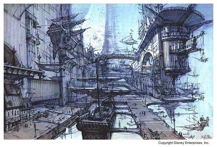 treasure planet concept art | ... Tuned for Amazing], Michael Spooner's [amazing] concept art for