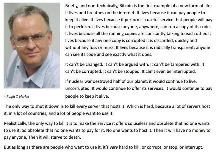 Ralph C. Merkle - Bitcoin