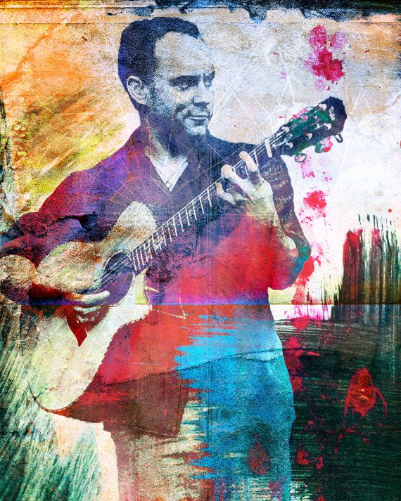 Dave Matthews Original by RockChromatic on Etsy