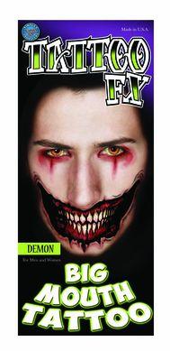 Temporary Face Tattoos - Demon