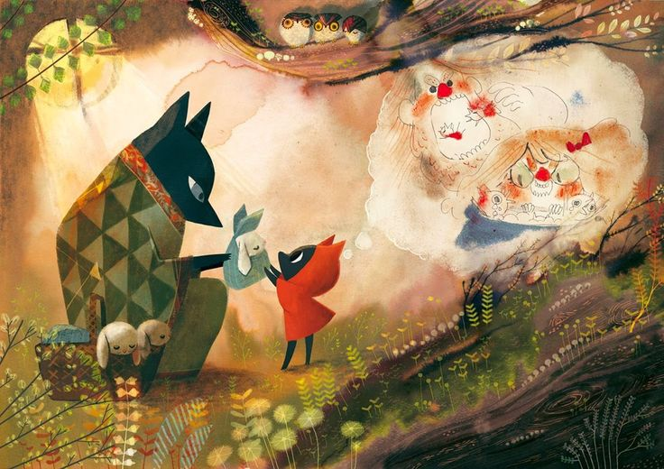 L'étang de Kaeru: Le petit loup rouge, d'Amélie Fléchais : un conte sauvage