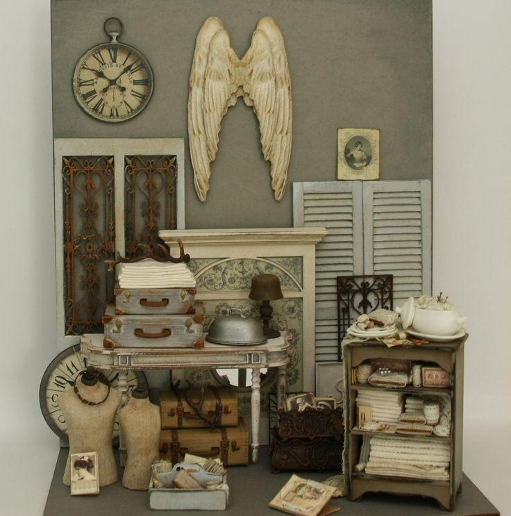 Vintage Flea Market #Dollshouse # Miniatures