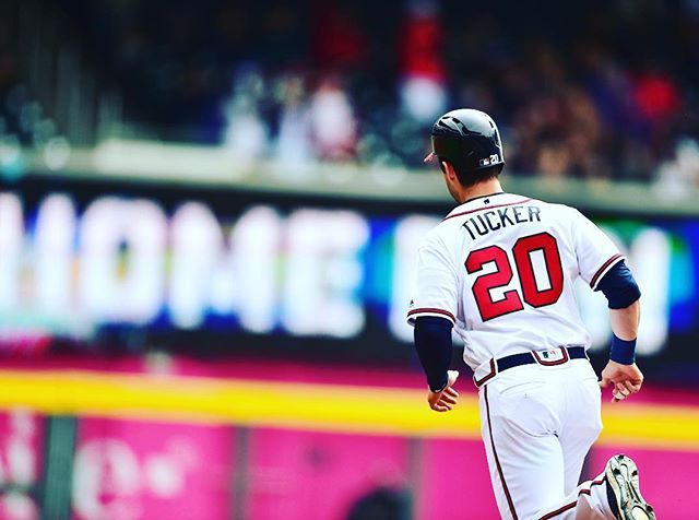 Here Is Another Prestontucker20 Hit A Clutch Home Run Post Chopon Atlanta Braves Braves Homerun