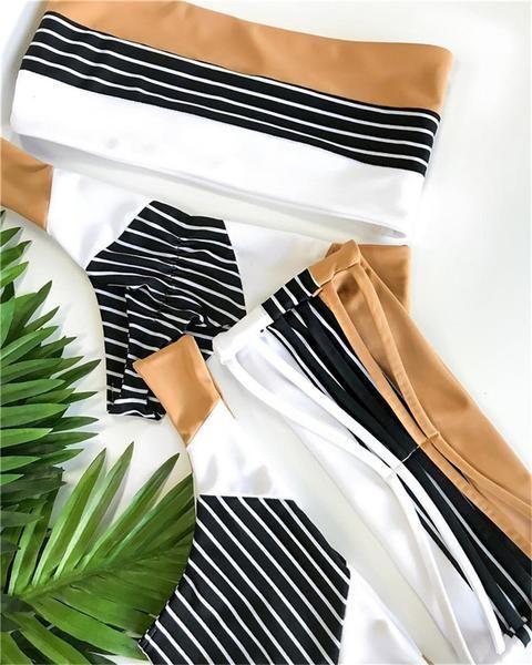 Gestreiftes Bikini Set   – My Style