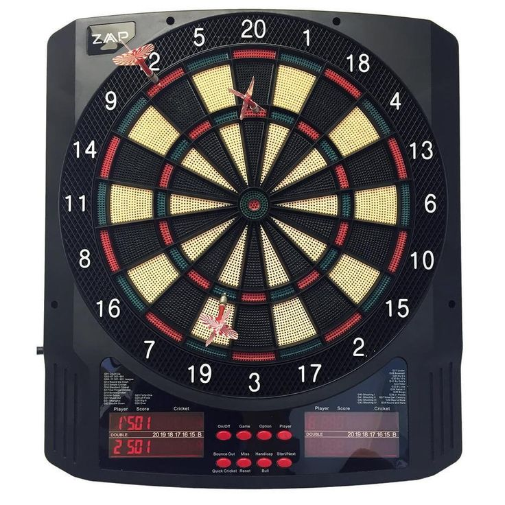 Electronic Dart Board Dartboard 6 Soft Tip Darts Large LCD Displays and 43 Games #ZAAPPro