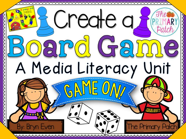 Game On! This Media Literacy unit for the Primary Grades is fun, highly motivational, and broken down into manageable steps for every type of learner in your class. Your students will love creating a unique board game with a theme that they are passionate about. The end product is a fully functional (often store worthy!) board game that they get to take home and play with friends and family.
