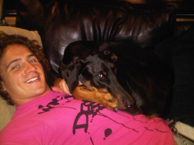 Whatever your true age, Carter, we hope you have a very puppy birthday and get to eat all the treats you want. | Every Year Ryan Lochte's Dog Turns 8-Years-Old Again