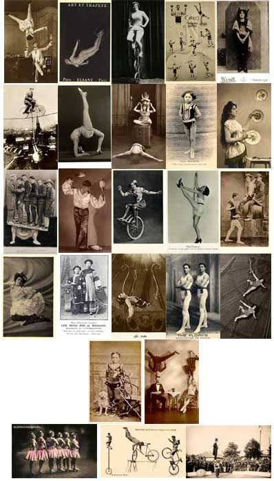 Everthing Vintage Circus Performer Acts Images to Download