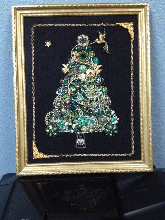 Hey, I found this really awesome Etsy listing at https://www.etsy.com/listing/215492976/large-framed-christmas-tree-jewelry-art