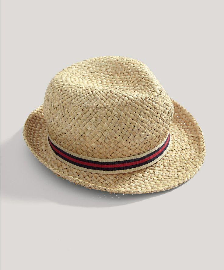 Boys Straw Trilby Hat - New In - Mamas & Papas