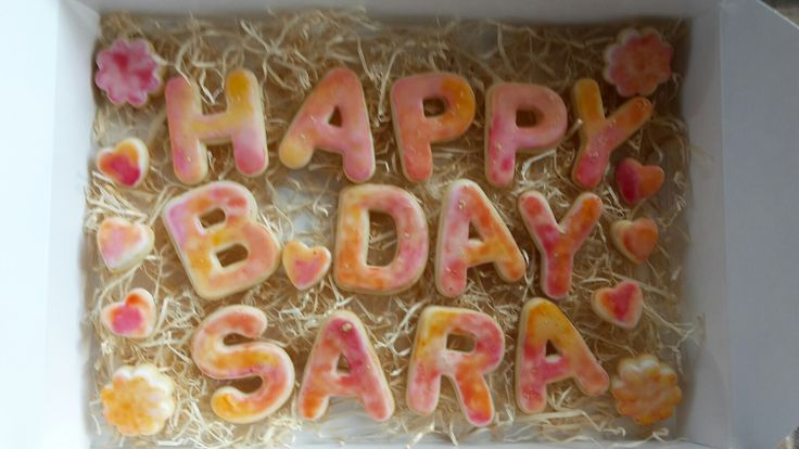 Birthday letters cookie box <3