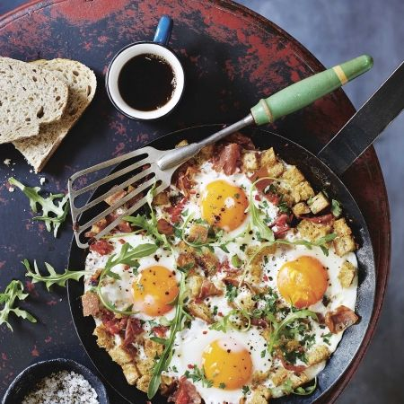 Prosciutto, rocket and breakfast eggs. For the full recipe, click the picture or visit RedOnline.co.uk