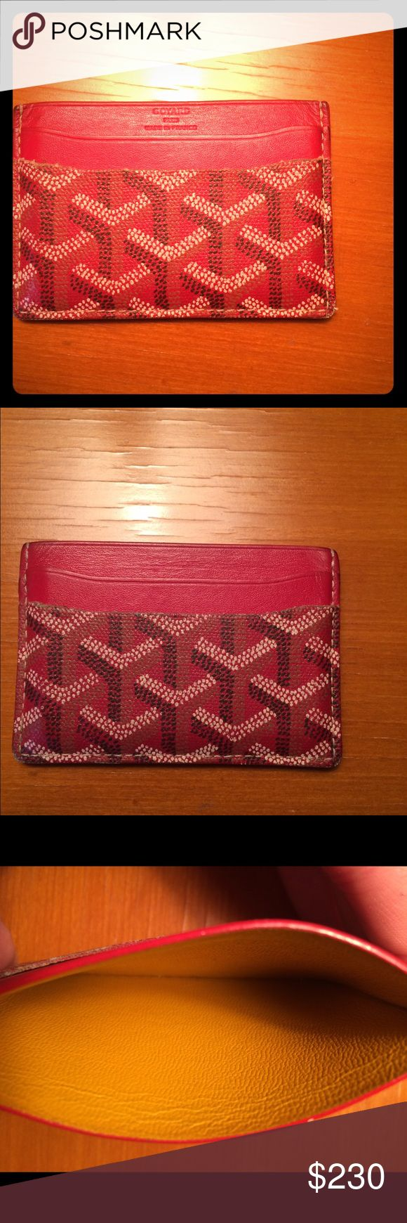 Goyard card holder Overall good condition of it Goyard Accessories Key & Card Holders