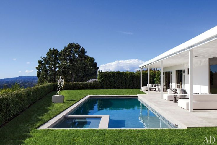 Elton John and David Furnish's Beverly Hills House :: Architectural Digest - Pool & Veranda